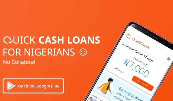 Quick check cash loan for Nigeria